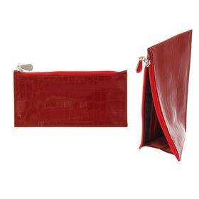 e3d6fe9aae5c Кошелёк женский на молнии, 1 отдел для купюр, для кредитных карт, наружный  карман, цвет красный
