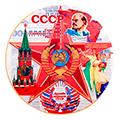 Сувенирные патриотичные тарелки декоративные