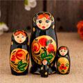 сувенирные матрёшки 4 кукол народных промыслов России