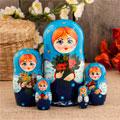 сувенирные матрёшки 5 штук народных промыслов России