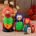 сувенирные матрёшки 6 кукол народных промыслов России