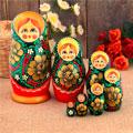 сувенирные матрёшки 7 в 1 народных промыслов России
