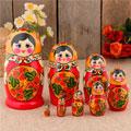 сувенирные матрёшки 8 в 1 народных промыслов России