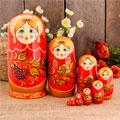 сувенирные матрёшки 9 кукол народных промыслов России