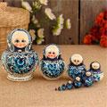 сувенирные матрёшки 10 в 1 народных промыслов России
