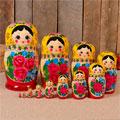 сувенирные матрёшки более 10 кукол народных промыслов России