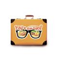 летние туристические наклейки на чемоданы