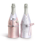 корзины и костюмы для шампанского на свадьбу