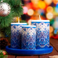 новогодние наборы свечей