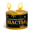 новогодние свечи в банке