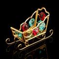 интерьерные новогодние сувениры с кристаллами Сваровски
