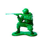 Sets of toy soldiers