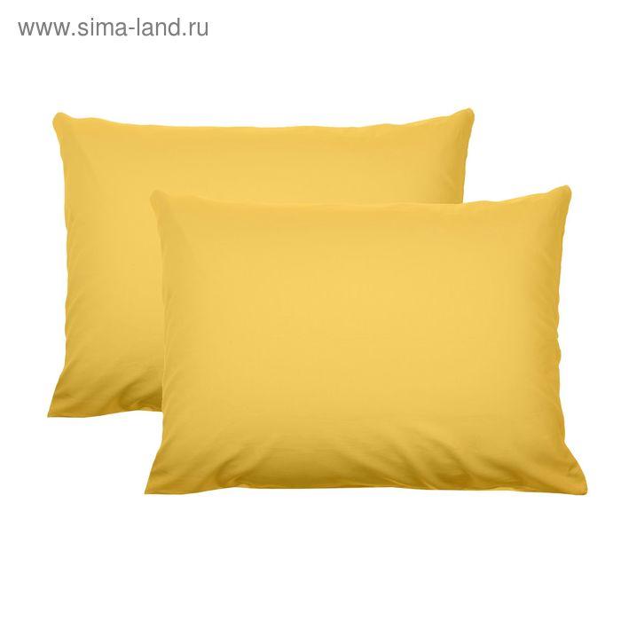 """Комплект наволочек """"Лайф Стайл"""" Лимон,50*70 см-2 шт,100% хлопок, сатин"""
