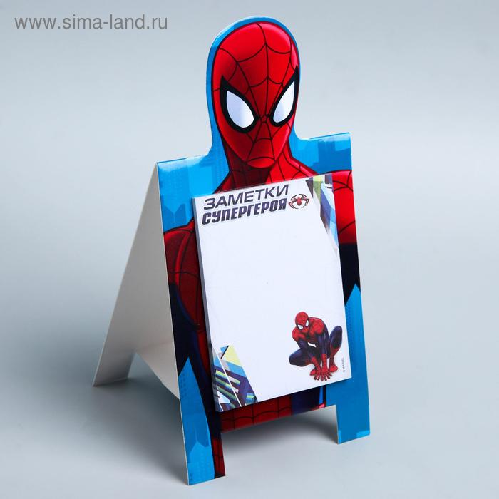 """Блок с отрывными листами на подставке """"Заметки супер-героя"""" , Человек-Паук, 30 листов"""