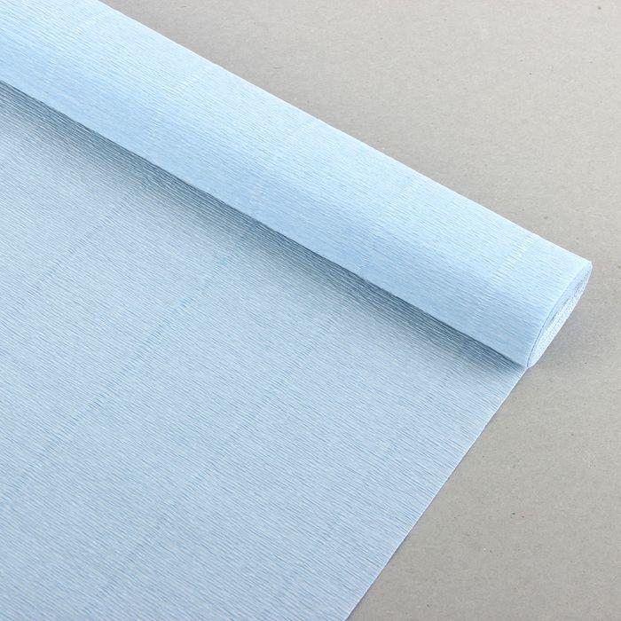 """Бумага гофрированная, 959 """"Нежно-голубая"""", 0,5 х 2,5 м"""