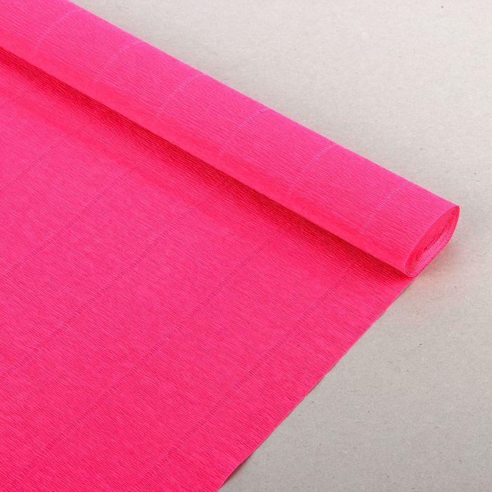 """Бумага гофрированная, 951 """"Ярко-розовая"""", 0,5 х 2,5 м"""