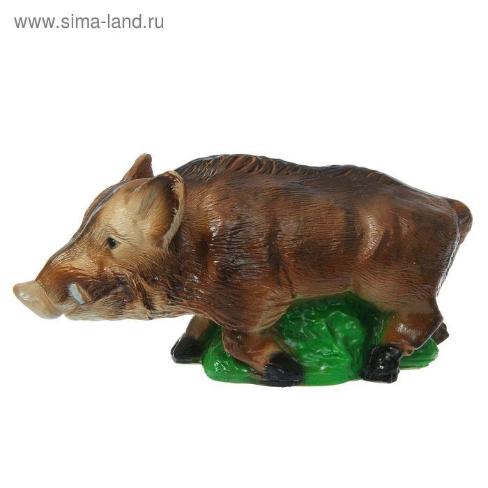 """Садовая фигура """"Кабанчик на траве"""" коричневая"""