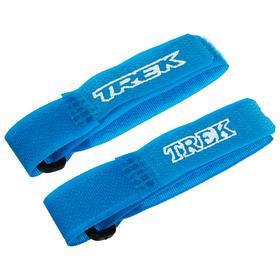 Зажим-липучка для лыж узкий, цвет синий