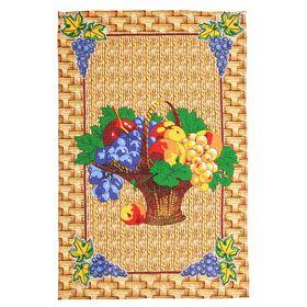 Полотенце кухонное Collorista 'Корзинка с фруктами', размер 48х72±2, 100% хлопок, вафельное полотно 162 г/м2 Ош