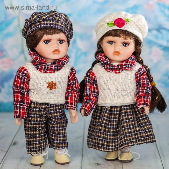 """Кукла коллекционная """"Ксюша и Паша"""" набор 2 шт"""