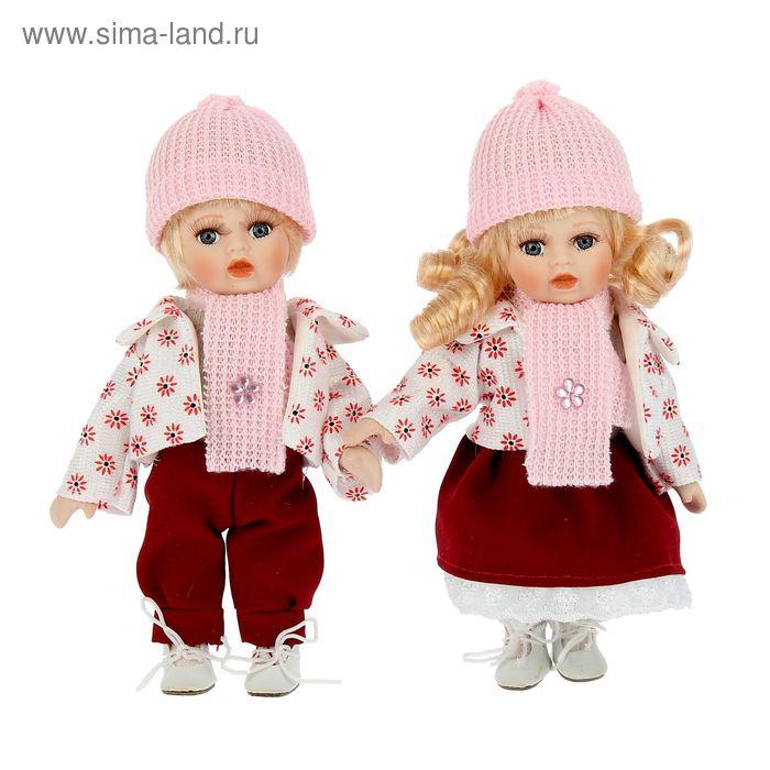 """Кукла коллекционная """"Маша и Сережа"""" набор 2 шт"""