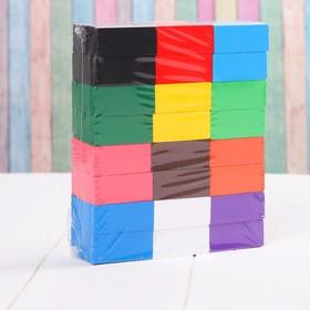Конструктор «Бруски», 120 элементов, размер 1 шт: 2 × 4.5 × 0.5 см