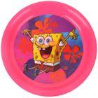 """Тарелка 19 см """"Губка Боб"""", цвет розовый 3D"""