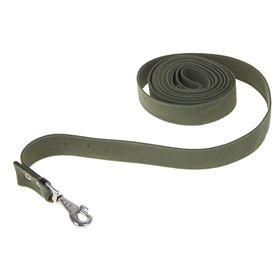Поводок брезентовый 5 м х 3,5 см, тёмно-зелёный