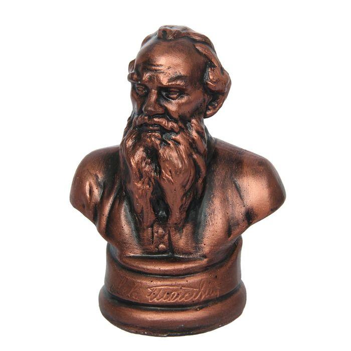 """Бюст """"Толстой"""" бронза, 6×8×11 см"""