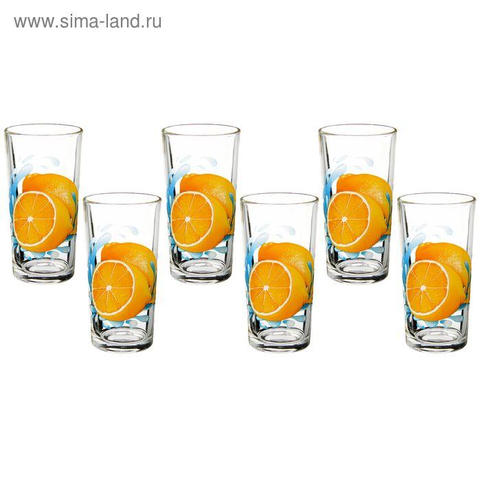 "Набор стаканов 200 мл ""Лимон"", 6 шт"
