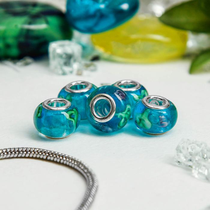 Бусинка-926-54, цветная в серебре