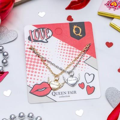 """Pendant """"Lovebirds"""" hearts, MIX color, 45 cm"""