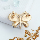 """Брошь """"Бабочка"""" весенняя, цвет коричневый в золоте - фото 7468202"""