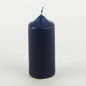 Свеча классическая 5х12 см, синяя Ош