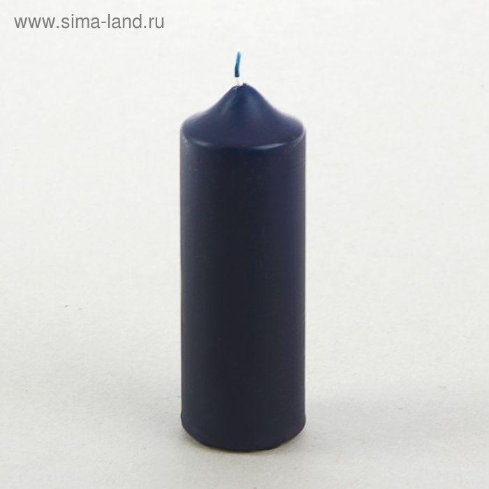 Свеча классическая 5х15 см, синяя