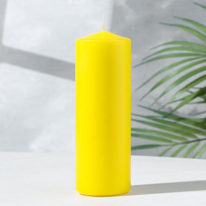 Свеча классическая 5х15 см, желтая