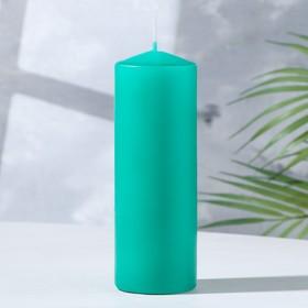 Свеча классическая 5х15 см, зеленая Ош