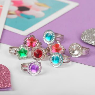 """Ring children's """"Vibracula"""" crystal form MIX, MIX color, dimensionless"""