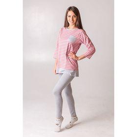 Комплект женский (джемпер, брюки), размер 42, цвет розовый в полоску, кулирка