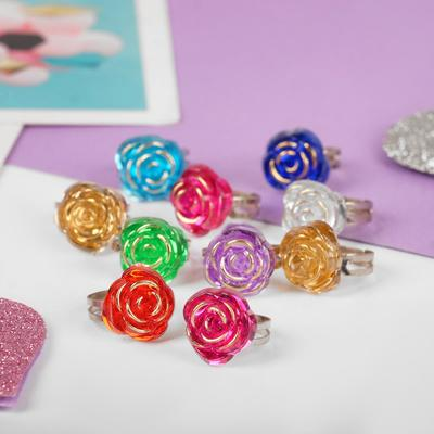 """Ring baby """"Vibracula"""" rose, MIX color, dimensionless"""