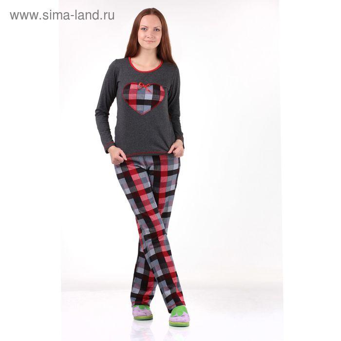 """Комплект женский (фуфайка, брюки) """"Мишель-2"""" размер 42, цвет красный"""