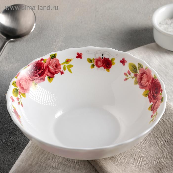 """Plate soup 600 ml """"Poetry of roses"""" 18х5 cm"""