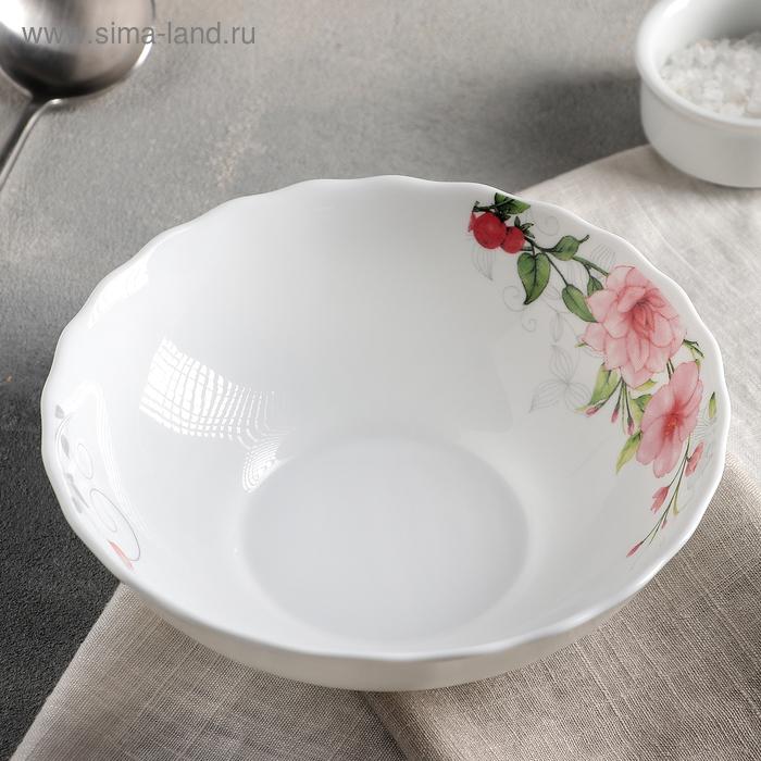 """Plate soup 600 ml """"Floral melody"""" 18х5 cm"""