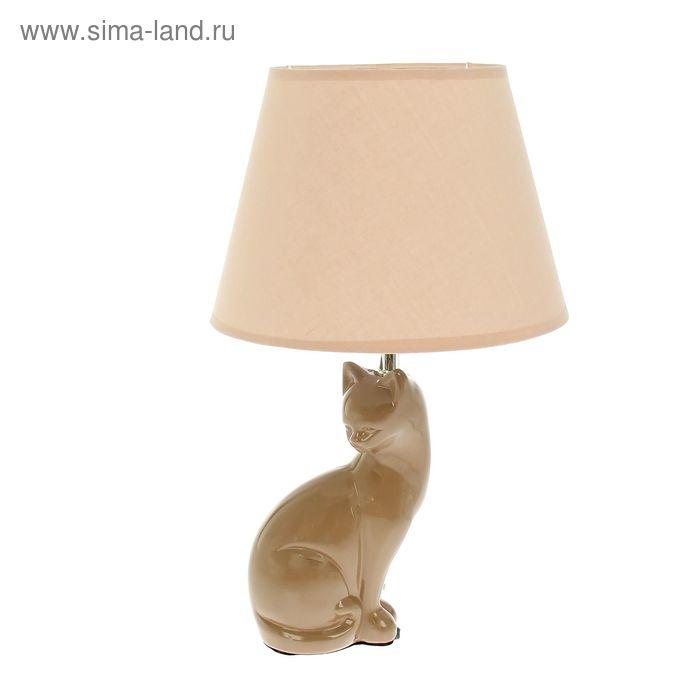 "Лампа настольная с абажуром ""Кошка сфинкс"""