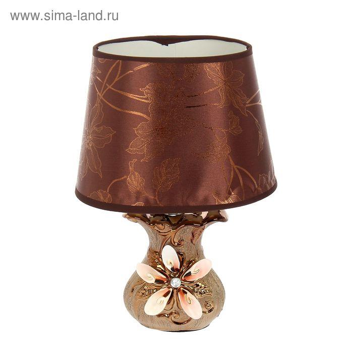 """Лампа настольная абажур """"Цветы из кораллов"""""""