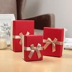 Набор коробок 3в1, красный, 16 х 10,5 х 8 - 11 х 8 х 6 см