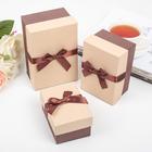 Набор коробок 3 в 1, коричневый, 16 х 10,5 х 8 - 11 х 8 х 6 см