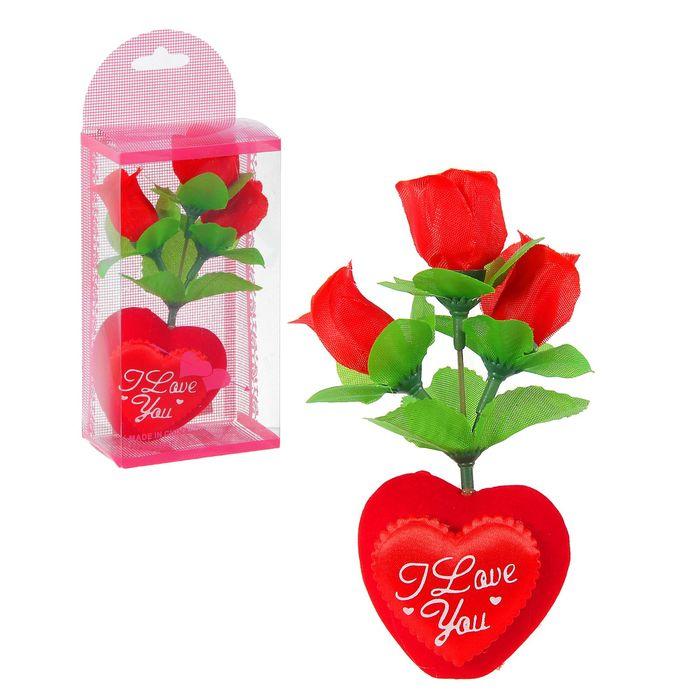 """Декор-украшение """"Сердечко с цветочками"""" в коробочке"""