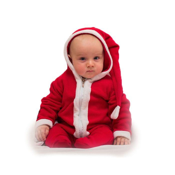 """Карнавальный костюм """"Малышка Санта"""", комбинезон 6-9 месяцев, рост 75 см"""