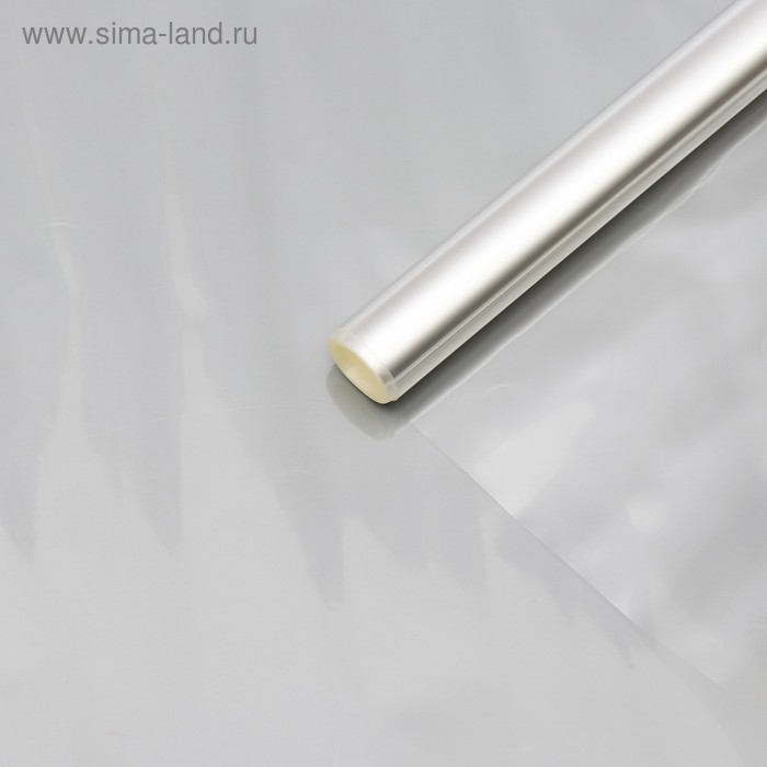 Плёнка для цветов прозрачная 0,8 х 6,8 м, 200 г, 40 мкм